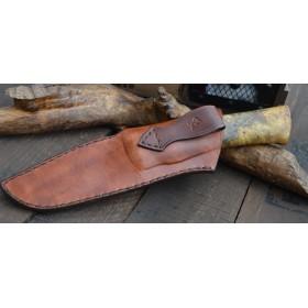 Couteau de Chasse Wootz Garde damas mosaïque Rivet mosaïque Manche en loupe de marronnier Californien