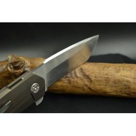 "Frame-lock Flipper ""Eagle""  knife forgeron coutelier"
